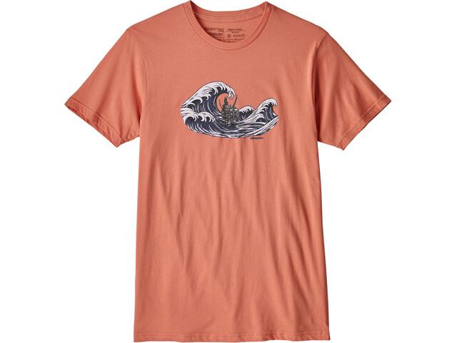 Patagonia M's Oily Olas Organic T-Shirt Quartz Coral